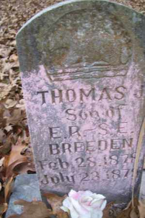 BREEDEN, THOMAS - Crawford County, Arkansas   THOMAS BREEDEN - Arkansas Gravestone Photos