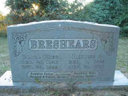 BRESHEARS, FRED - Crawford County, Arkansas | FRED BRESHEARS - Arkansas Gravestone Photos