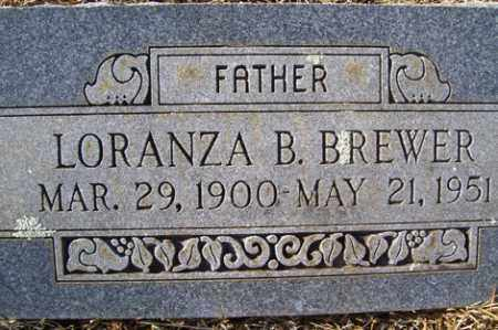 BREWER, LORANZA B - Crawford County, Arkansas | LORANZA B BREWER - Arkansas Gravestone Photos