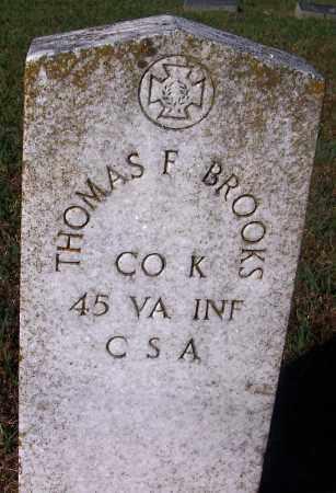 BROOKS (VETERAN CSA), THOMAS FULTON - Crawford County, Arkansas | THOMAS FULTON BROOKS (VETERAN CSA) - Arkansas Gravestone Photos