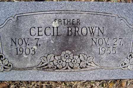 BROWN, CECIL - Crawford County, Arkansas   CECIL BROWN - Arkansas Gravestone Photos