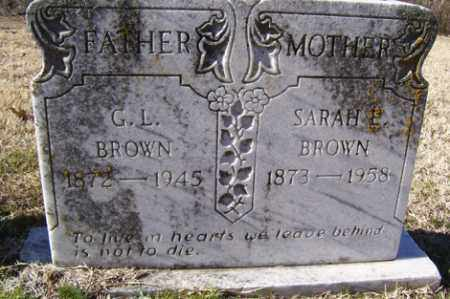 BROWN, G L - Crawford County, Arkansas | G L BROWN - Arkansas Gravestone Photos