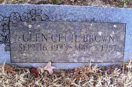 BROWN, GLEN CECIL - Crawford County, Arkansas | GLEN CECIL BROWN - Arkansas Gravestone Photos