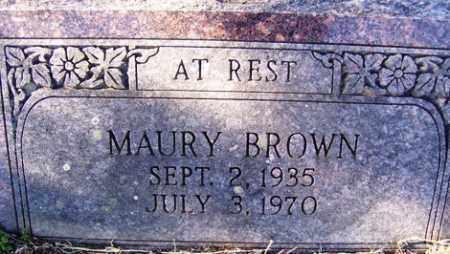 BROWN, MAURY - Crawford County, Arkansas   MAURY BROWN - Arkansas Gravestone Photos