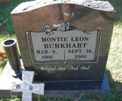 BURKHART, MONTIE LEON - Crawford County, Arkansas | MONTIE LEON BURKHART - Arkansas Gravestone Photos