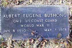 BUSHONG (VETERAN WWII), ALBERT EUGENE - Crawford County, Arkansas | ALBERT EUGENE BUSHONG (VETERAN WWII) - Arkansas Gravestone Photos