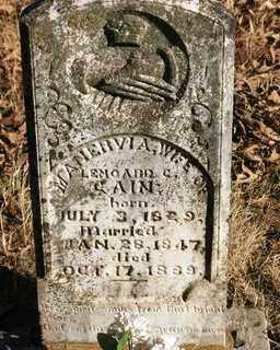 CAIN, MANERVIA A. - Crawford County, Arkansas | MANERVIA A. CAIN - Arkansas Gravestone Photos