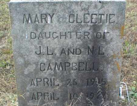 CAMPBELL, MARY CLEETIE - Crawford County, Arkansas   MARY CLEETIE CAMPBELL - Arkansas Gravestone Photos