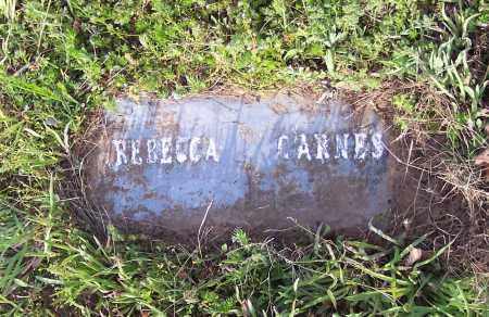 CARNES, REBECCA - Crawford County, Arkansas   REBECCA CARNES - Arkansas Gravestone Photos
