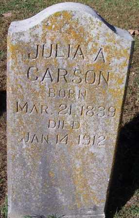 CARSON, JULIA A - Crawford County, Arkansas | JULIA A CARSON - Arkansas Gravestone Photos