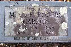 ROGERS CARSON, MINNIE - Crawford County, Arkansas | MINNIE ROGERS CARSON - Arkansas Gravestone Photos