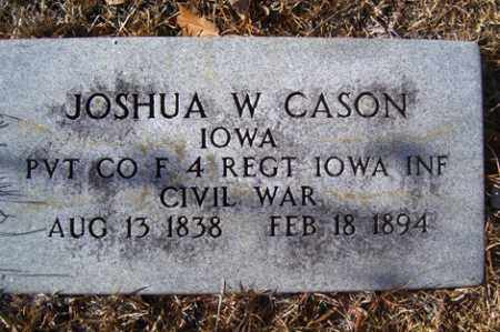 CASON (VETERAN UNION), JOSHUA W - Crawford County, Arkansas | JOSHUA W CASON (VETERAN UNION) - Arkansas Gravestone Photos