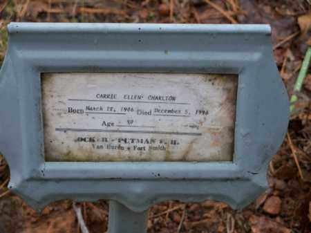 CHARLTON, CARRIE ELLEN - Crawford County, Arkansas | CARRIE ELLEN CHARLTON - Arkansas Gravestone Photos