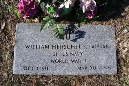 CLAPHAN (VETERAN WWII), WILLIAM HERSCHEL - Crawford County, Arkansas | WILLIAM HERSCHEL CLAPHAN (VETERAN WWII) - Arkansas Gravestone Photos