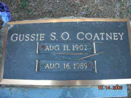 COATNEY, GUSSIE S.O. - Crawford County, Arkansas   GUSSIE S.O. COATNEY - Arkansas Gravestone Photos