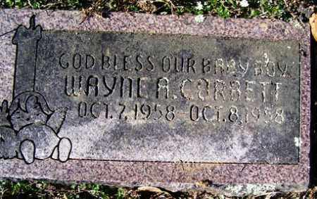CORBETT, WAYNE A - Crawford County, Arkansas   WAYNE A CORBETT - Arkansas Gravestone Photos