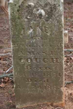 COUCH, JANE - Crawford County, Arkansas   JANE COUCH - Arkansas Gravestone Photos