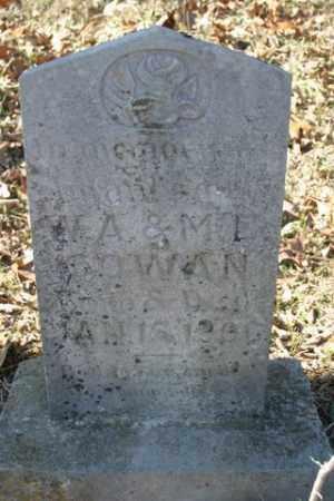 COWAN, INFANT SON - Crawford County, Arkansas | INFANT SON COWAN - Arkansas Gravestone Photos