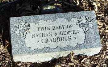 CRADDUCK, TWIN BABY - Crawford County, Arkansas | TWIN BABY CRADDUCK - Arkansas Gravestone Photos
