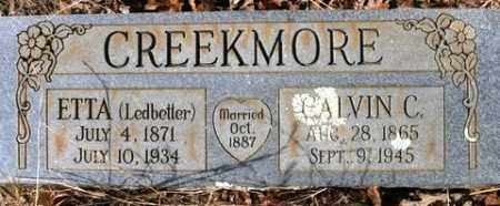 LEDBETTER CREEKMORE, ETTA - Crawford County, Arkansas | ETTA LEDBETTER CREEKMORE - Arkansas Gravestone Photos