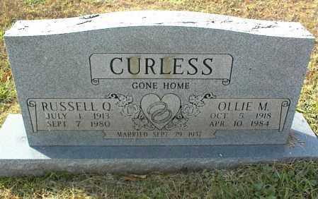 CURLESS, OLLIE M. - Crawford County, Arkansas | OLLIE M. CURLESS - Arkansas Gravestone Photos