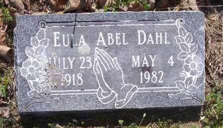 DAHL, EULA ABEL - Crawford County, Arkansas | EULA ABEL DAHL - Arkansas Gravestone Photos