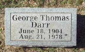 DARR, GEORGE THOMAS - Crawford County, Arkansas | GEORGE THOMAS DARR - Arkansas Gravestone Photos