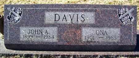 DAVIS, JOHN A - Crawford County, Arkansas   JOHN A DAVIS - Arkansas Gravestone Photos