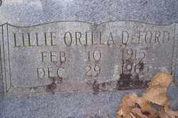 BROWN DEFORD, LILLIE ORILLA - Crawford County, Arkansas | LILLIE ORILLA BROWN DEFORD - Arkansas Gravestone Photos