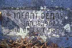 DENNY, INFANT DAUGHTER - Crawford County, Arkansas | INFANT DAUGHTER DENNY - Arkansas Gravestone Photos