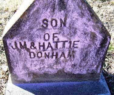 DONHAM, SON - Crawford County, Arkansas | SON DONHAM - Arkansas Gravestone Photos