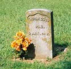 DOSS (VETERAN UNION), THOMAS H - Crawford County, Arkansas | THOMAS H DOSS (VETERAN UNION) - Arkansas Gravestone Photos