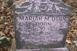 DUNN, MARIAH M - Crawford County, Arkansas | MARIAH M DUNN - Arkansas Gravestone Photos