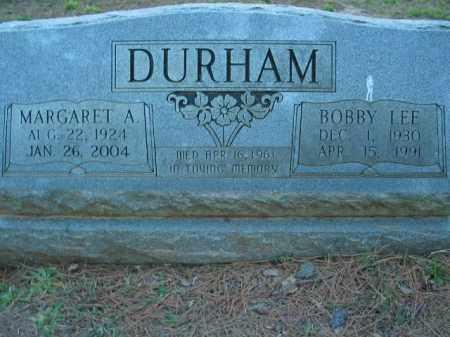 DURHAM, MARGARET ALICE - Crawford County, Arkansas | MARGARET ALICE DURHAM - Arkansas Gravestone Photos