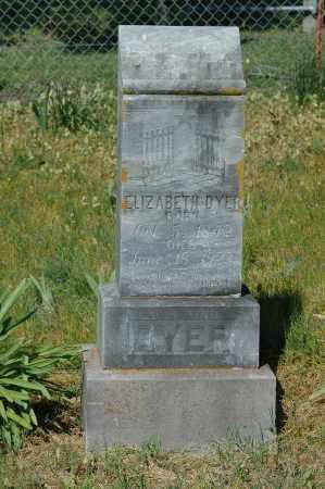 DYER, ELIZABETH - Crawford County, Arkansas | ELIZABETH DYER - Arkansas Gravestone Photos