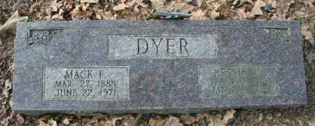 DYER, BESSIE - Crawford County, Arkansas | BESSIE DYER - Arkansas Gravestone Photos