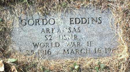 EDDINS (VETERAN WWII), GORDON - Crawford County, Arkansas   GORDON EDDINS (VETERAN WWII) - Arkansas Gravestone Photos