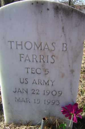 FARRIS (VETERAN), THOMAS B - Crawford County, Arkansas | THOMAS B FARRIS (VETERAN) - Arkansas Gravestone Photos