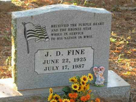 FINE  (VETERAN WWII), J D - Crawford County, Arkansas   J D FINE  (VETERAN WWII) - Arkansas Gravestone Photos