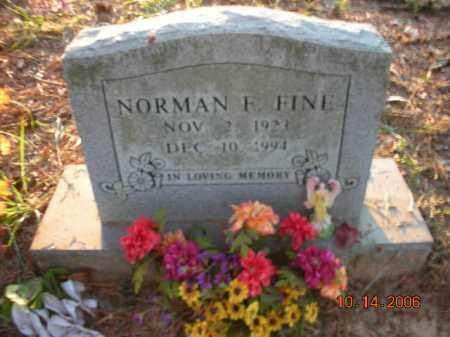 FINE, NORMAN F. - Crawford County, Arkansas   NORMAN F. FINE - Arkansas Gravestone Photos