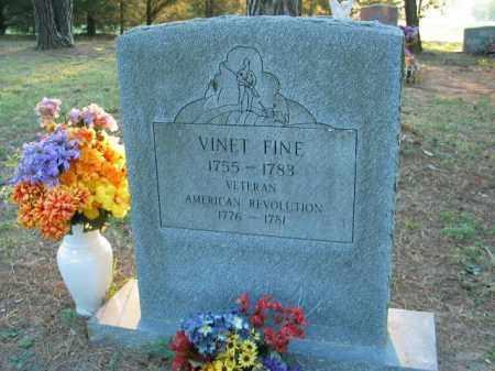 FINE (VETERAN RW), VINET - Crawford County, Arkansas | VINET FINE (VETERAN RW) - Arkansas Gravestone Photos