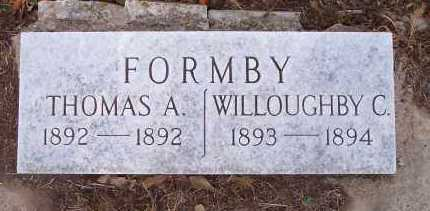 FORMBY, WILLOUGHBY C - Crawford County, Arkansas | WILLOUGHBY C FORMBY - Arkansas Gravestone Photos