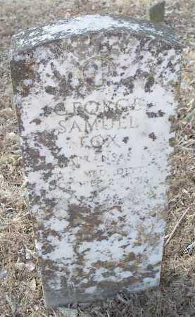 FOX  (VETERAN), GEORGE SAMUEL - Crawford County, Arkansas   GEORGE SAMUEL FOX  (VETERAN) - Arkansas Gravestone Photos
