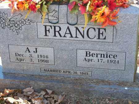 FRANCE, A  J - Crawford County, Arkansas   A  J FRANCE - Arkansas Gravestone Photos