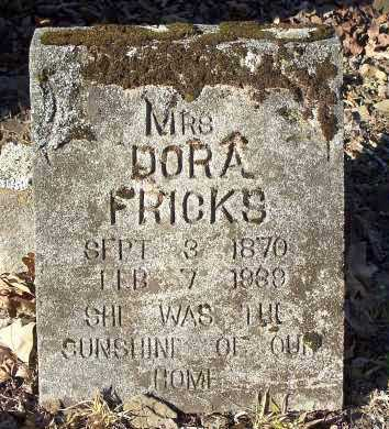 FRICKS, DORA (MRS.) - Crawford County, Arkansas | DORA (MRS.) FRICKS - Arkansas Gravestone Photos