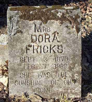 FRICKS, DORA (MRS.) - Crawford County, Arkansas | DORA (MRS.) FRICKS - Arkansas Gravestone Photos