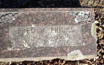 FRICKS, FRED W. - Crawford County, Arkansas   FRED W. FRICKS - Arkansas Gravestone Photos
