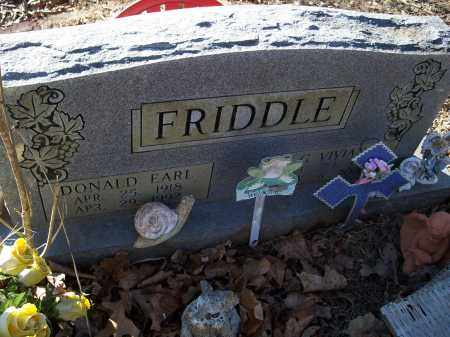 FRIDDLE, DONALD EARL - Crawford County, Arkansas | DONALD EARL FRIDDLE - Arkansas Gravestone Photos