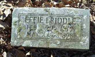 FRIDDLE, EFFIE - Crawford County, Arkansas | EFFIE FRIDDLE - Arkansas Gravestone Photos