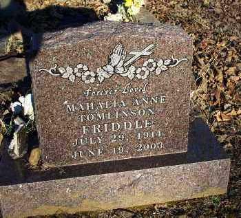 TOMLINSON FRIDDLE, MAHALIA ANNE - Crawford County, Arkansas | MAHALIA ANNE TOMLINSON FRIDDLE - Arkansas Gravestone Photos